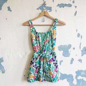 Vintage Gabar USA Made Floral Skirted Swimsuit